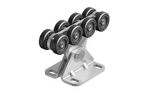 Опора роликовая (полимерные ролики) для ворот до 300 кг