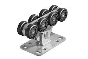 Опора роликовая (полимерные ролики) для ворот до 500 кг