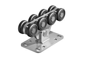 Опора роликовая (стальные ролики) для створки весом до 700 кг